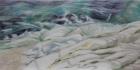 Küstenimprovisation Nr.1 2020 50 x 100 cm Öl auf Leinwand
