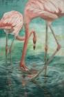 Rote Flamingos 2017 120 x 80 cm Öl auf Leinwand
