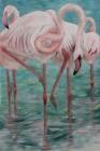 Rosa Flamingos 2017 120 x 80 cm Öl auf Leinwand