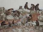 Mandrille 2012 60 x 80 cm Öl auf Leinwand
