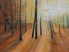 Herbstwald Hönigtal 2012 60 x 80 cm Öl auf Leinwand