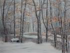Winterwald Hönigtal 2011 60 x 80 cm Öl auf Leinwand