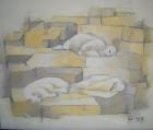 Eisbären Nr.2 2009 50 x 60 cm Öl auf Leinwand