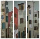 Rovinj, Triptychon 2013 3x (150 x 50 cm) Öl auf Leinwand