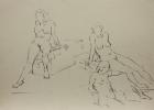 Aktstudie, Nr.4 1983 42 x 60 cm Grafitstift