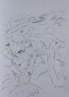 Manuel, Rast am Gebirgsbach 2001 40 x 30 cm Grafitstift
