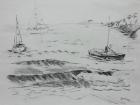 Küstenlandschaft 2008  29,5 x 42 cm Grafitstift