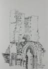 Abtei Jumièges, Nr.3 2010 28,5cm x 21cm Grafitstift