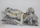 Aktstudie, Nr.1 2013 60 x 88 cm Zeichenkohle, Pastellkreide