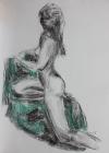 Aktstudie, Nr.2 2013 88 x 60 cm Zeichenkohle, Pastellkreide