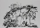 Fels 2017 21 x 29 cm Tuschepinsel