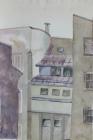 Innenhof Nr.2 46 x 30 cm 1982 Aquarell