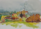 Holzhausen 1986 19 x 25 cm Aquarell