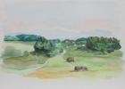 Happerg 1987 30 x 40 cm Aquarell
