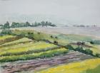 Landschaft am Neusiedler See, Nr.2 2005 30 x 40 cm  Aquarell