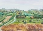 Landschaft um Oggau 2005 30 x 40 cm Aquarell