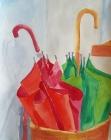 Schirme 2001 49 x 39 cm Aquarell